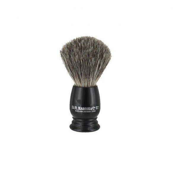 Ebony Shaving Brush with Best Badger - croftonandhall
