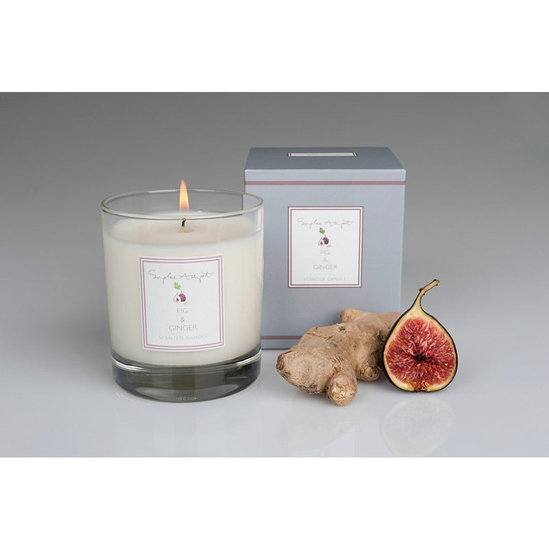 Fig & Ginger Scented Candle - 220g - croftonandhall