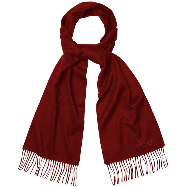 Red Cashmere Scarf - croftonandhall