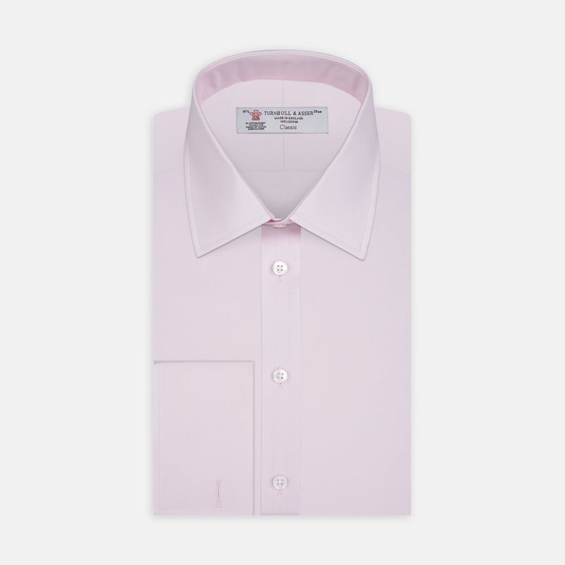 Pink Cotton Shirt with T&A Collar and Double Cuffs - croftonandhall