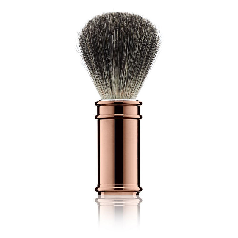 Chrome and Rose Gold 3 Piece Shaving Set - croftonandhall