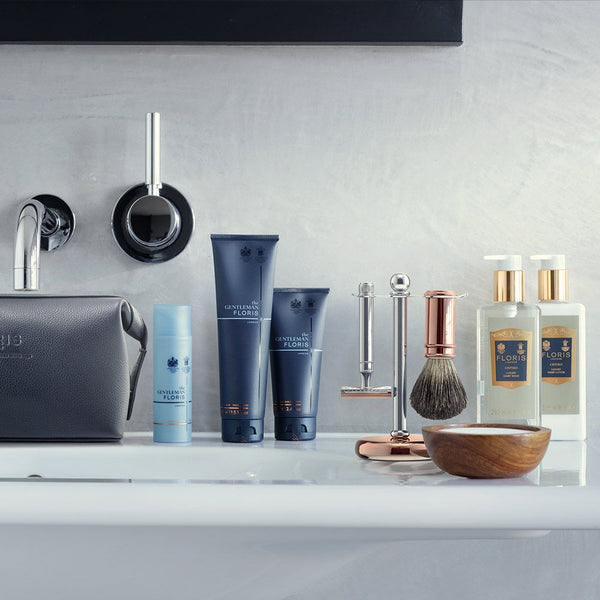 Chrome and Rose Gold 3 Piece Shaving Set - Crofton & Hall