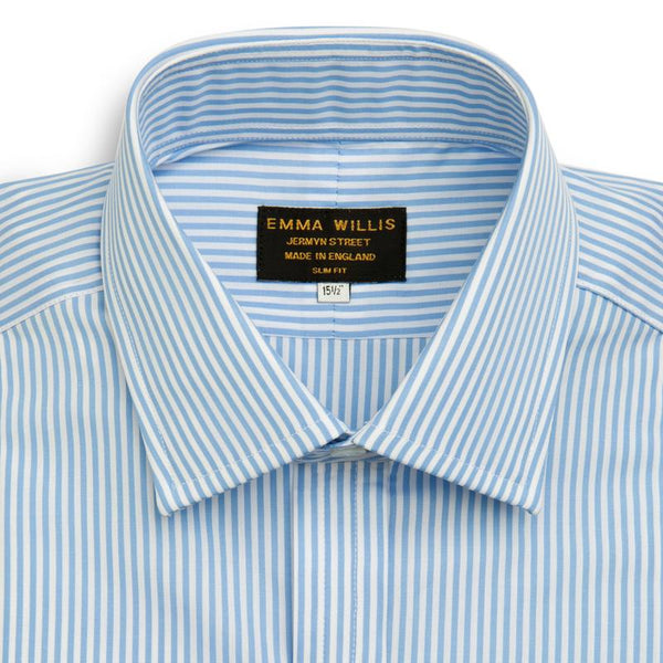 Sky Bengal Stripe Cotton Shirt - croftonandhall