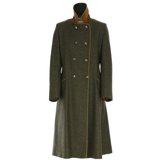 The Coat - Racing Green Herringbone - Crofton & Hall