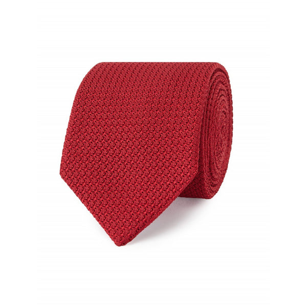 Scarlet Red Knitted Silk Tie - croftonandhall