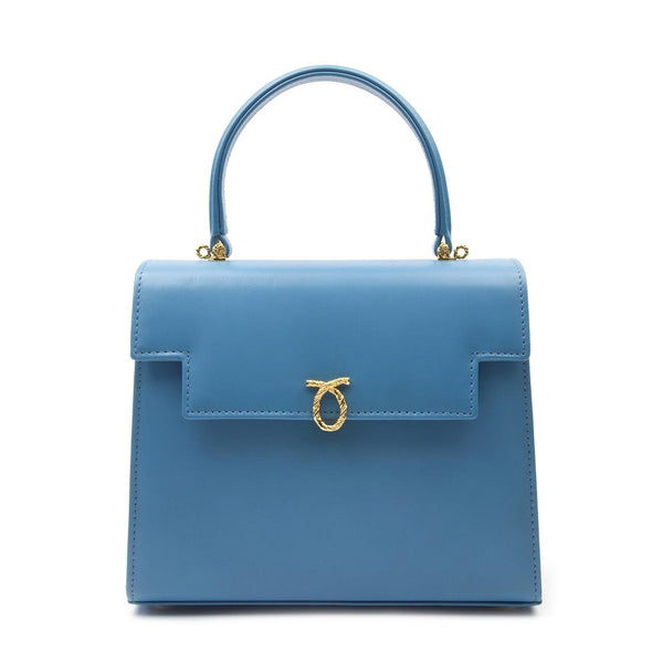 Traviata Luxury Handbag in Capri Blue - croftonandhall