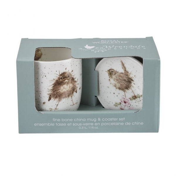 Wrendale Bird Mug and Coaster - croftonandhall