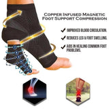 2 PAIRS MEDITICA™ COPPER INFUSED MAGNETIC FOOT SUPPORT COMPRESSION -FREE CASH ON DELIVERY