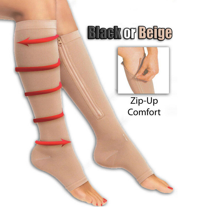 Open Toe Plantar Pain Relief Compression Socks