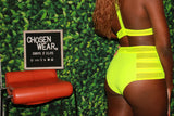 Two-Piece Neon Green Swim-Suit