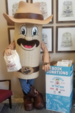 Tex the Tamale helping get donations for Literacy in the Bag