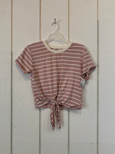 Heart and Hips Pink Stripe Shirt