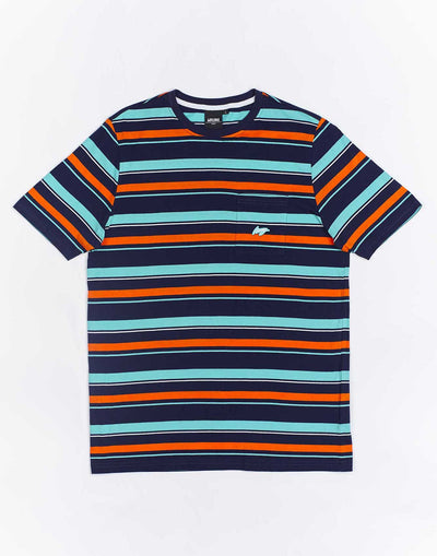 Wrung Pocket Stripes bleu marine