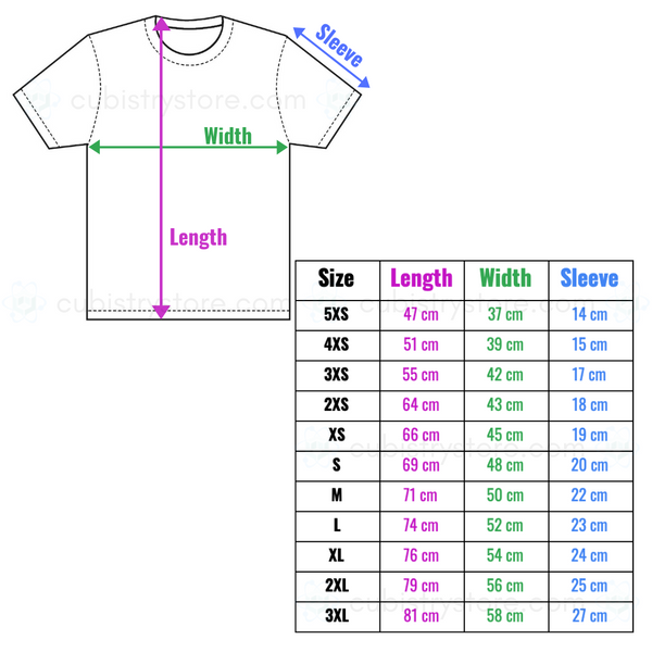 Sizing Chart - Cubistry