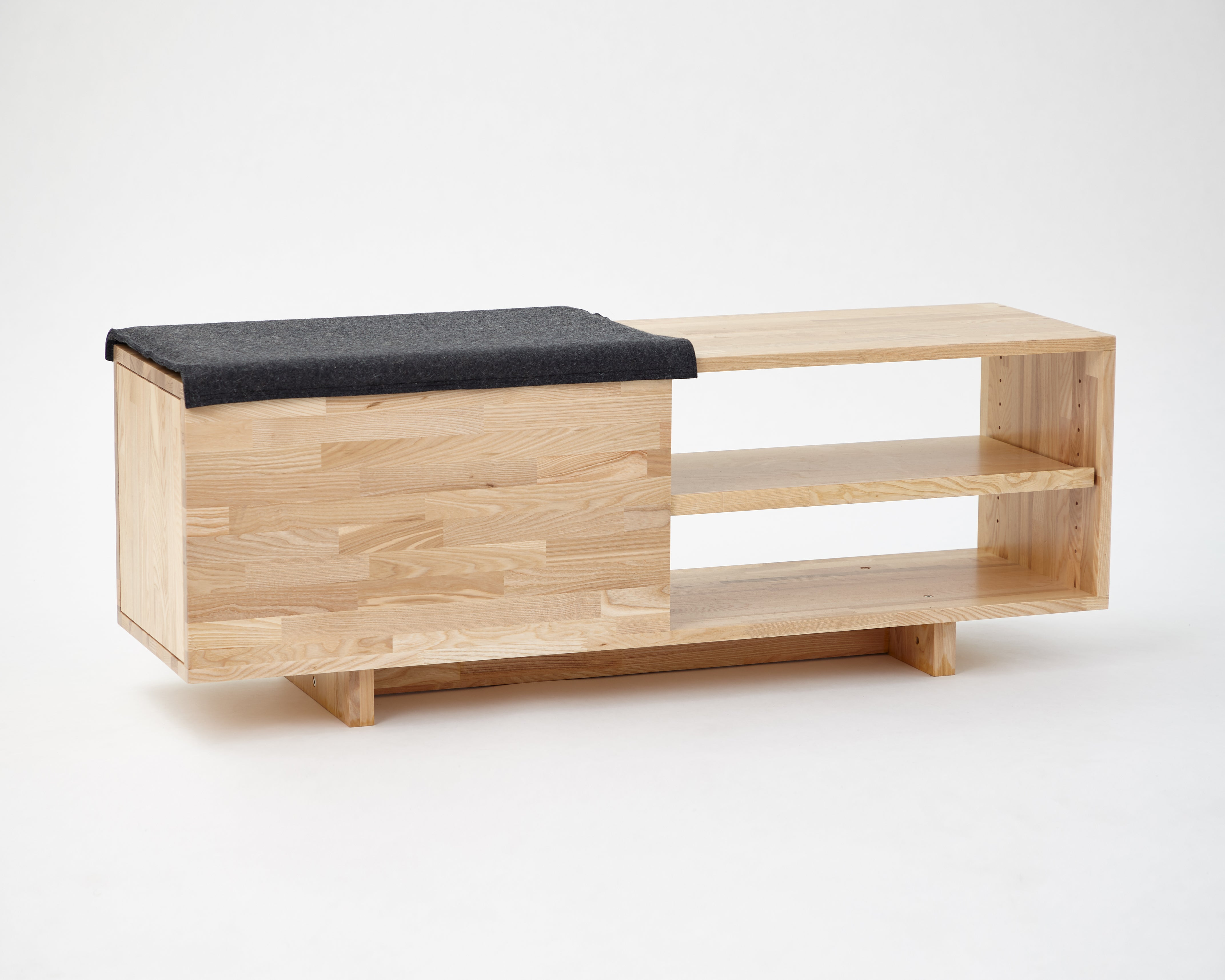 White Ash Storage Bench
