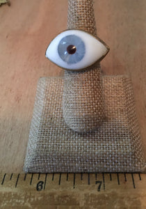 Large blue eyeball size 6
