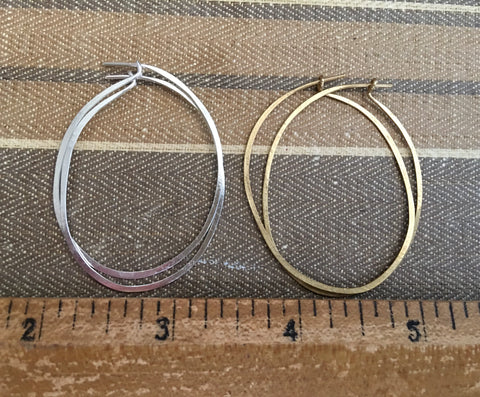 Medium oval lightweight hoops