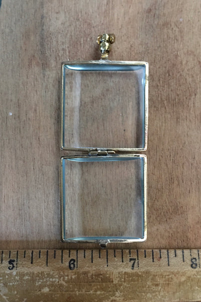 Large Square brass  locket