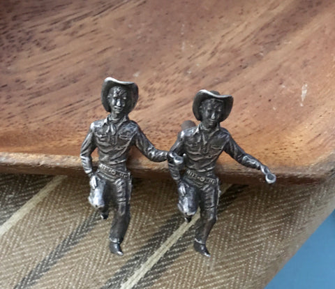 Cowboy sterling cuff links
