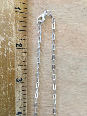 Vintage style delicate silver chain