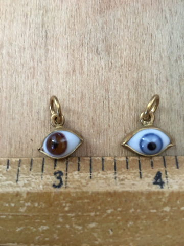 Brass eye ball charms
