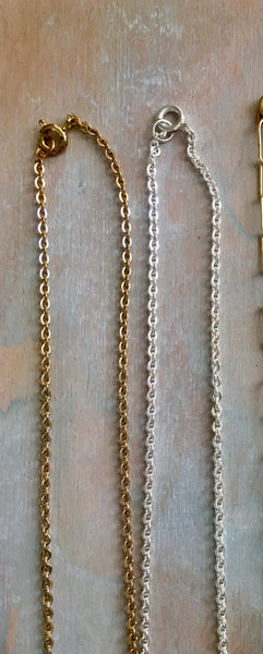 "24"" brass chains"