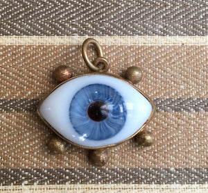 Large Blue eye charm with lashes