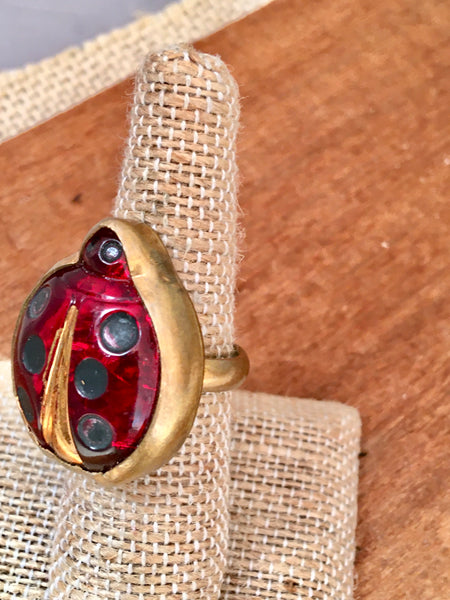 Czech lady bug ring