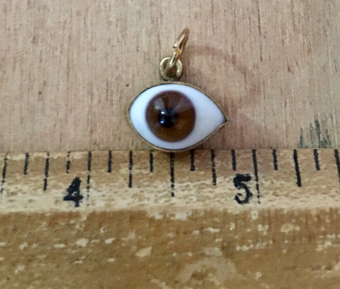 Brown eye charm