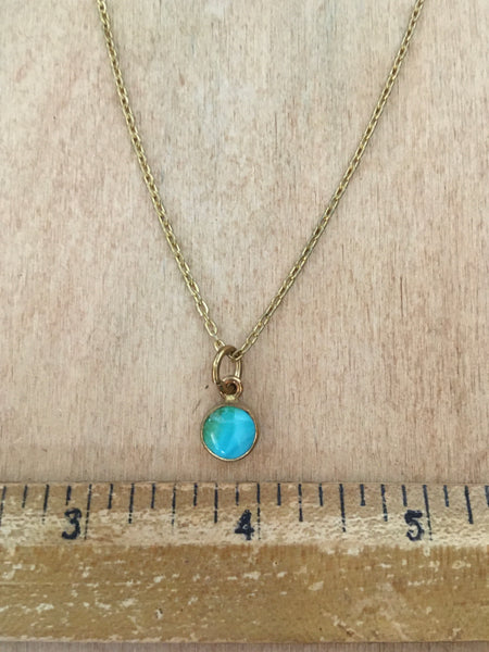 Simple turquoise necklace