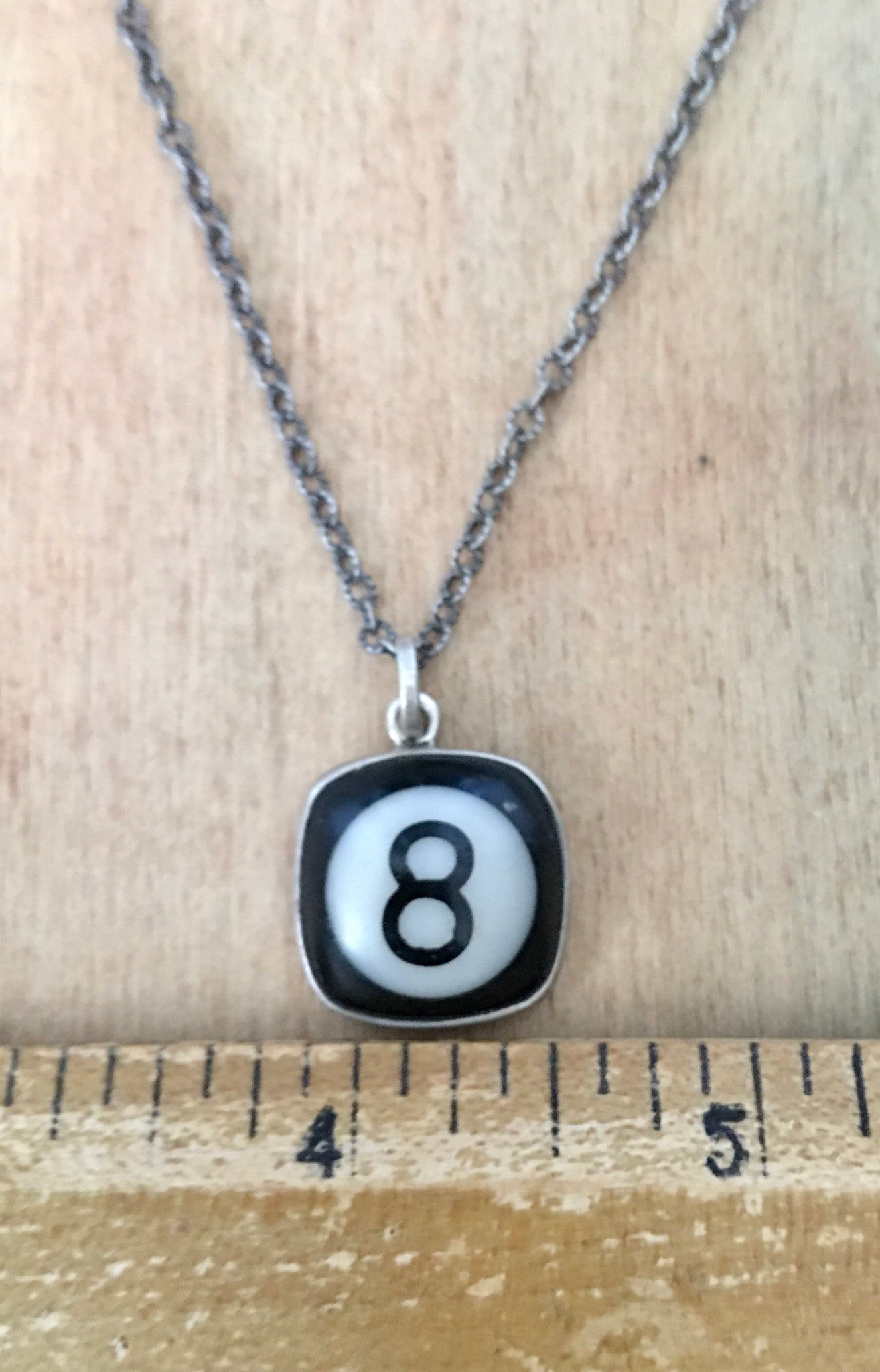 Sterling 8 ball necklace
