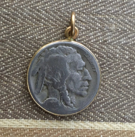 Antique buffalo nickel