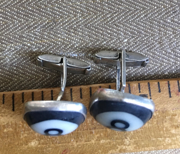 Sterling 8 ball cuff links