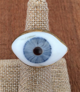Blue eye ring 5.5