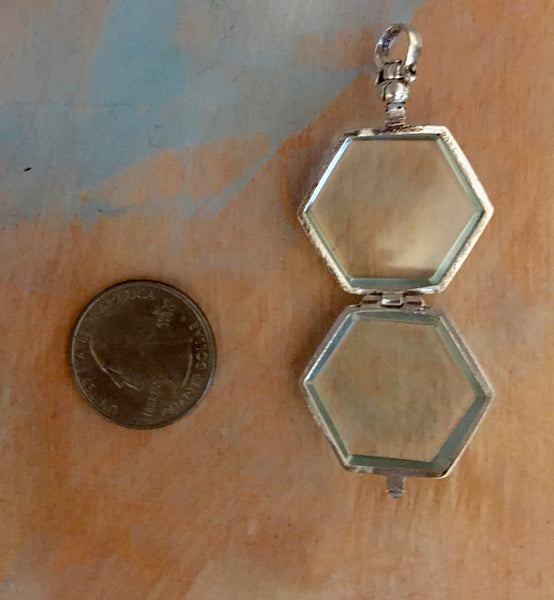 Sterling hexagon locket