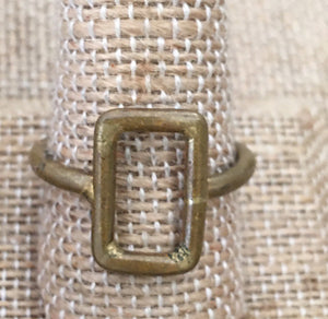 Simple square brass ring