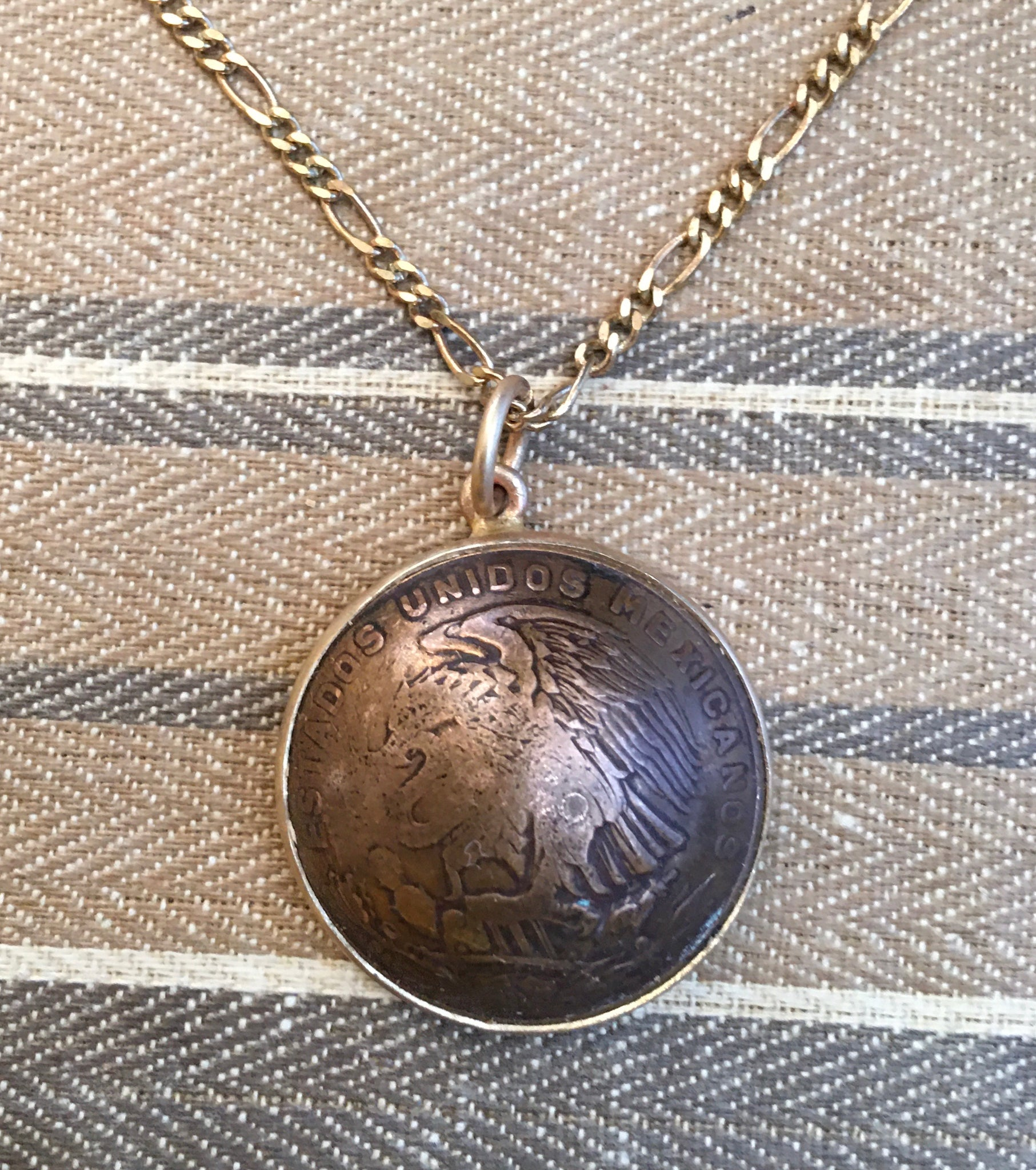 Killer antique Mexican domed coin