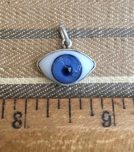 Sterling blue eye ball charm