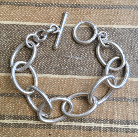 Simple chunky Sterling bracelet
