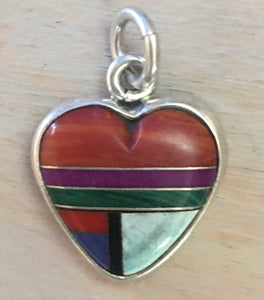 Inlaid sterling heart