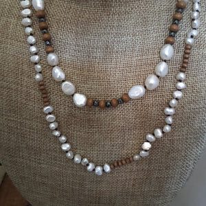 2 strand pearl necklace