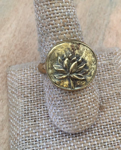 Beautiful brass Lotus ring