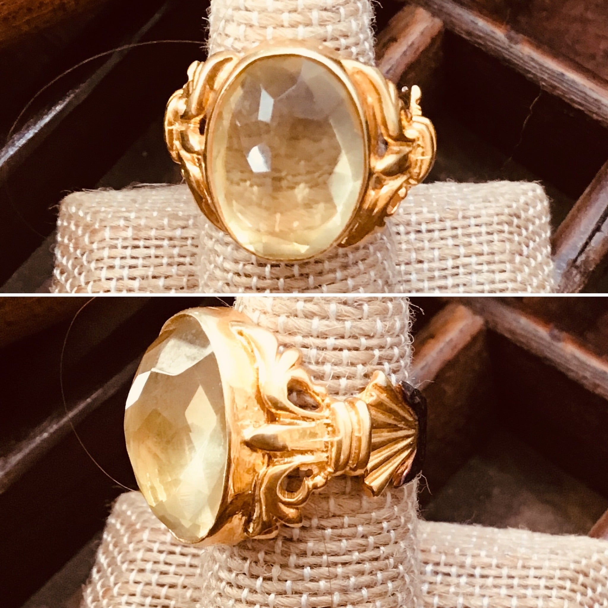 Regal mixed metal Citrine ring
