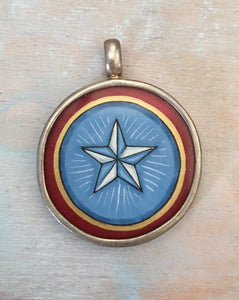 Hand painted lone star pendant