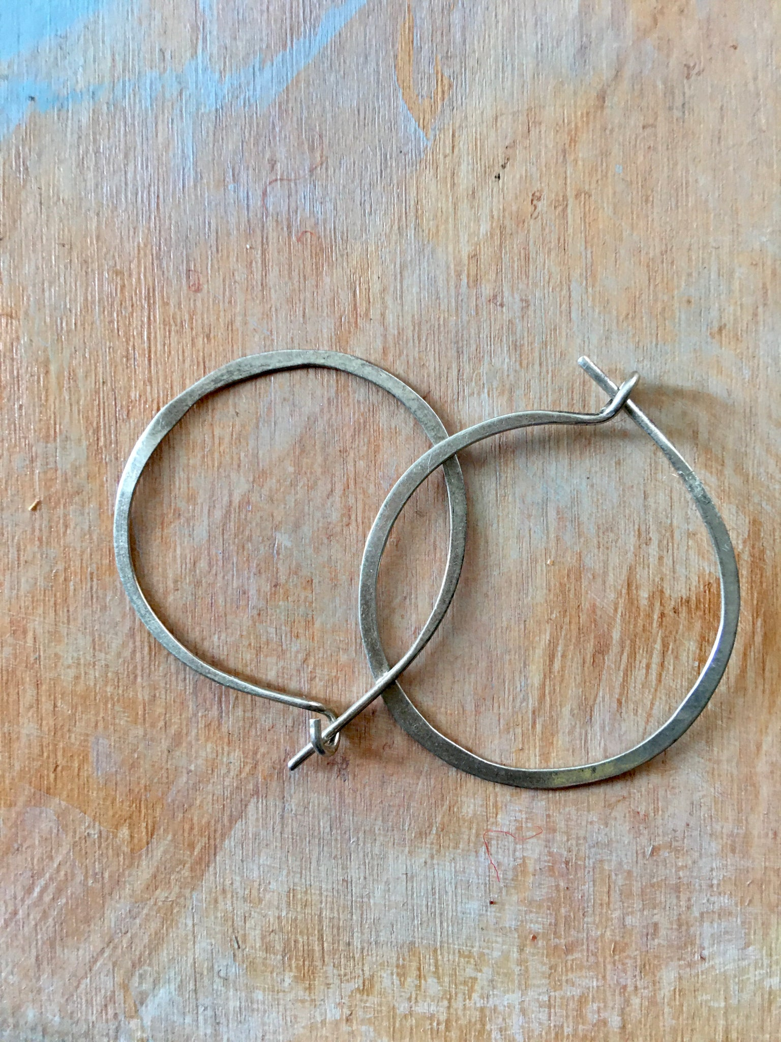 Round sterling hoops