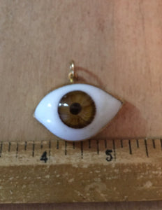 Large brown eyeball charm
