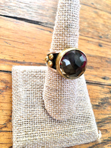 Royal Smokey topaz ring