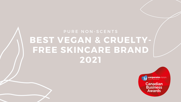 Best Vegan & Cruelty-Free Skincare Brand 2021 on Corporate Vision, Canadian Business Awards