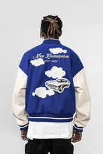 Load image into Gallery viewer, Embroidered Clouds Varsity Jacket