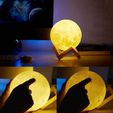 Enchanting 3D Moon Light Set (w/ Wooden Stand)-Next Deal Shop-Next Deal Shop